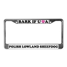 Bark Polish Lowland Sheepdog License Plate Frame