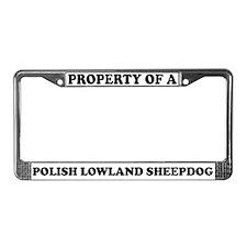 Property Of A Polish Sheepdog License Plate Frame