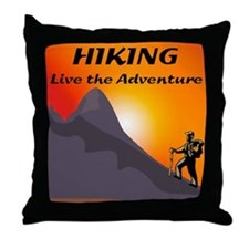 Hiking Live The Adventure Throw Pillow