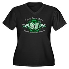CP Butterfly Women's Plus Size V-Neck Dark T-Shirt