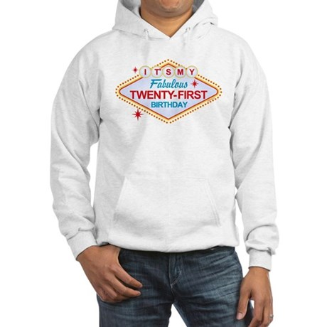 Las Vegas Birthday 21 Hooded Sweatshirt