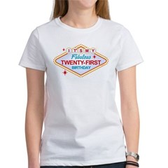 Las Vegas Birthday 21 Women's T-Shirt