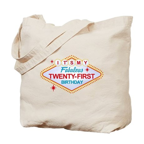 Las Vegas Birthday 21 Tote Bag