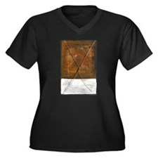 P.Daigrepont Abstract Women's Plus Size V-Neck Dar