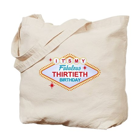 Las Vegas Birthday 30 Tote Bag
