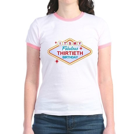 Las Vegas Birthday 30 Jr. Ringer T-Shirt
