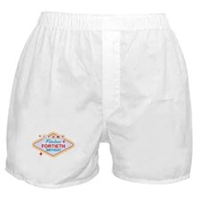 Las Vegas Birthday 40 Boxer Shorts