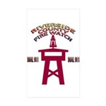 Rivco Firewatch Rectangle Sticker 10 pk)