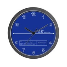 Blueprint Wall Clock
