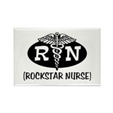 Rockstar Nurse Rectangle Magnet