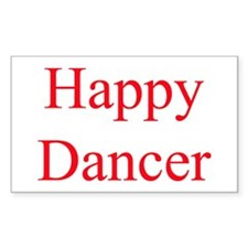 Happy Dancer Rectangle Sticker 50 pk) red