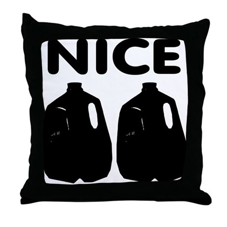 Nice Jugs Throw Pillow
