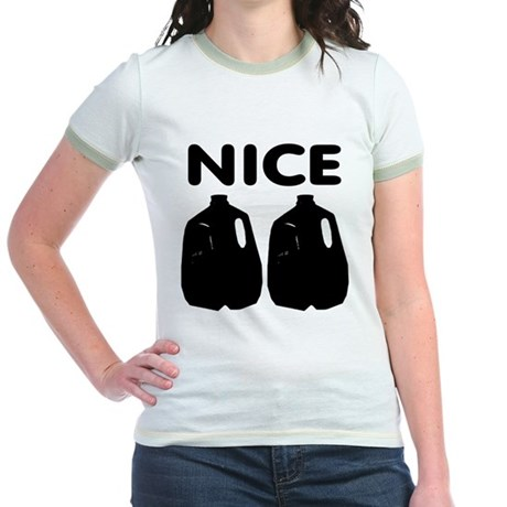 Nice Jugs Jr. Ringer T-Shirt