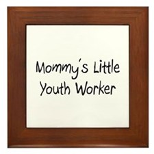 Mommy's Little Youth Worker Framed Tile