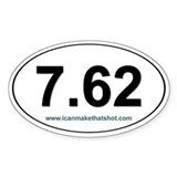 7.62 Oval Decal