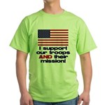 Troops & Mission Green T-Shirt