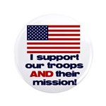 "Troops & Mission 3.5"" Button (100 pack)"