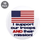 "Troops & Mission 3.5"" Button (10 pack)"