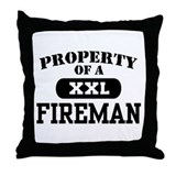 Property of a Fireman Throw Pillow