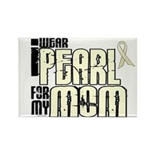 I Wear Pearl For My Mom 6 Rectangle Magnet (10 pac