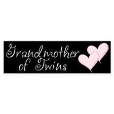 Grandmother of Twins Bumper Car Sticker