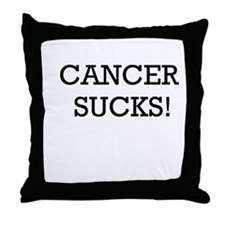 Cancer Sucks Throw Pillow