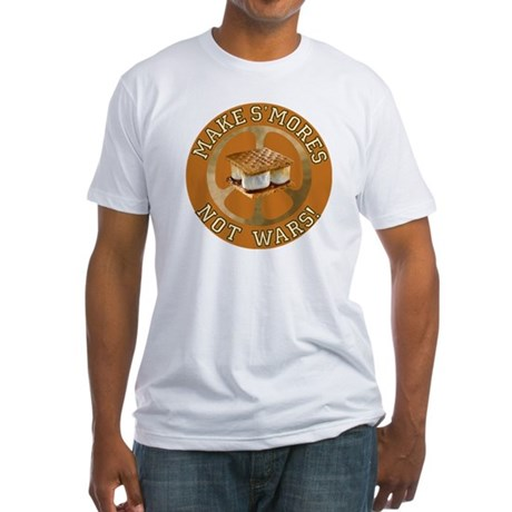 Make Smores Not Wars Fitted T-Shirt