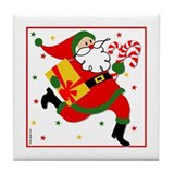 Racing Santa Tile Coaster