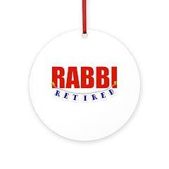 Retired Rabbi Ornament (Round)