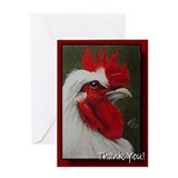 Original Rooster art on Greeting Card