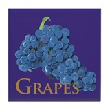 Red Wine Grapes Tile Coaster