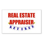 Retired Real Estate Appraiser Rectangle Sticker
