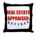 Retired Real Estate Appraiser Throw Pillow