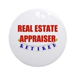 Retired Real Estate Appraiser Ornament (Round)