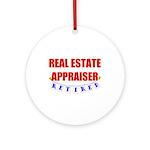 Retired Real Estate Appraiser Ornament (Round)