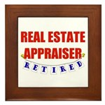 Retired Real Estate Appraiser Framed Tile