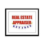 Retired Real Estate Appraiser Framed Panel Print