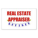 Retired Real Estate Appraiser Rectangle Sticker 1