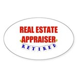 Retired Real Estate Appraiser Oval Sticker (50 pk)