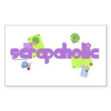 Scrapaholic Rectangle Decal