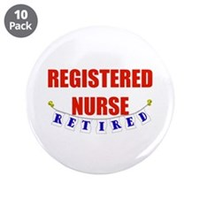 "Retired Registered Nurse 3.5"" Button (10 pack)"
