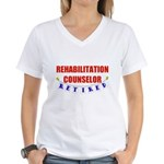 Retired Rehabilitation Counselor Women's V-Neck T-