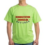 Retired Rehabilitation Counselor Green T-Shirt