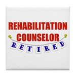Retired Rehabilitation Counselor Tile Coaster