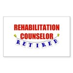 Retired Rehabilitation Counselor Sticker (Rectangl
