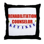 Retired Rehabilitation Counselor Throw Pillow