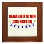 Retired Rehabilitation Counselor Framed Tile