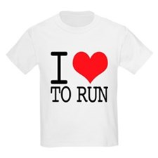 I Love To Run T-Shirt