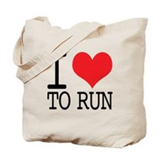 I Love To Run Tote Bag