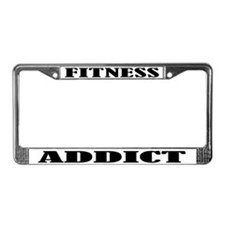 Fitness Addict License Plate Frame